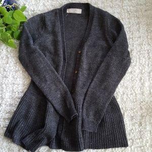Zara Wool Blend Flared Button Cardigan